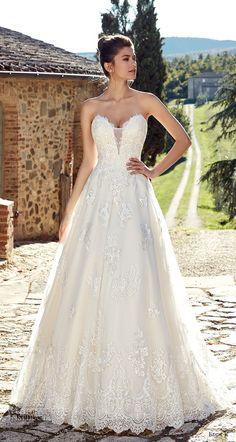 eddy k 2019 ek strapless sweetheart neckline heavily embellished bodice romantic a  line wedding dress (15) mv -- Eddy K. 2019 Wedding Dresses