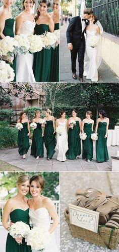 Emerald Green Wedding at William Aiken House - Style Me Pretty