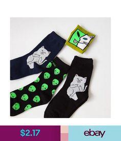 8743ff89c Hosiery Men Autumn Winter Art Funny Cotton Cartoon Cat Socks Alien Planet  Stockings  ebay  Fashion