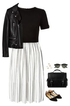 """""""#2856"""" by azaliyan ❤ liked on Polyvore featuring New Look, Ted Baker, Accessorize, Aspinal of London, Forever 21, Ray-Ban and Yves Saint Laurent"""