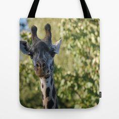"""""""Dreamy eyes giraffe """" Tote Bag by Celeste Sheffey of Khoncepts+-+$22.00. #sexyeyes #conversationalart #animalphotography"""
