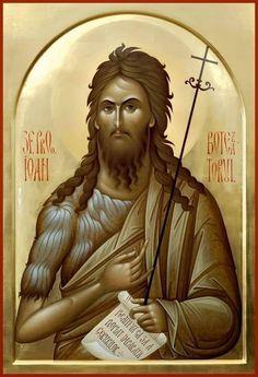 Religious Icons, Religious Art, Byzantine Icons, Orthodox Christianity, Saint Jean, John The Baptist, High Art, Orthodox Icons, Dios