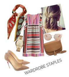A fashion look from August 2017 featuring boho shift dress, red sole pumps and brown leather shoulder bag. Browse and shop related looks. Christian Dior, Christian Louboutin, Red Sole, Wardrobe Staples, Boho Dress, Leather Shoulder Bag, Tommy Hilfiger, Brown Leather, Valentino