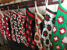 No longer able to fill orders for Christmas 2015.  STILL ACCEPTING STOCKING ORDERS FOR NEXT CHRISTMAS 2016. These crochet Christmas stockings are