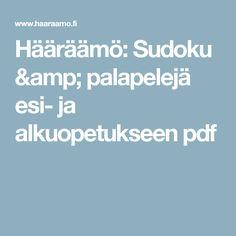 Hääräämö: Sudoku & palapelejä esi- ja alkuopetukseen pdf