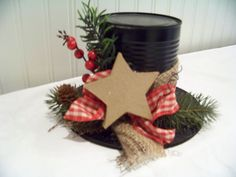 Primitive Christmas Top Hat via Etsy.