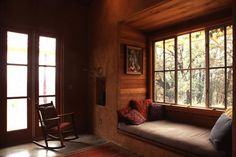 Straw bale window nook   Arkin Tilt Architects