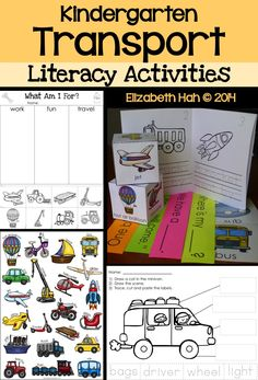 Fun transport activities to support your teaching. 70 pages of writing, labeling, printables, readers and a great reading centre using all primer and pre-primer Dolch words. Includes wall poster and word wall cards. $