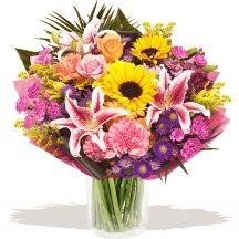 Sunrise Hand-tied #flower #bouquet
