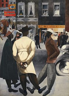 Zoot Suits, 1948 by Edward Burra on Curiator, the world's biggest collaborative art collection. Black Panthers, Harlem Renaissance Artists, George Grosz, Romare Bearden, Illustration, Collaborative Art, Black Artists, African American History, American Women