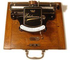 Edelmann typewriter - 1897, www.antiquetypewriters.com by antique typewriters, via Flickr