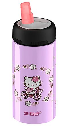 Don't let the cute kitty deceive you - we tested this new SIGG no-leak water bottle and it is tough stuff!