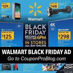 Walmart's Black Friday ad is LIVE!!! Go to CouponProBlog.com to view the entire ad. Which deal is your favorite? 😊💙📦 (tag a friend)