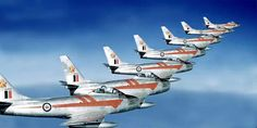 .Canadian Sabres Military Jets, Military Aircraft, Fighter Aircraft, Fighter Jets, Avro Arrow, Sabre Jet, Airplane Art, Canadian History, Aircraft Photos