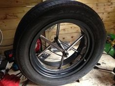 Car Wheel Bicycle - the Learn to Weld Project : 8 Steps (with Pictures) - Instructables Welding Classes, Welding Jobs, Diy Welding, Metal Welding, Welding Ideas, Welding Design, Metal Projects, Diy Projects, Diy Wood Stove