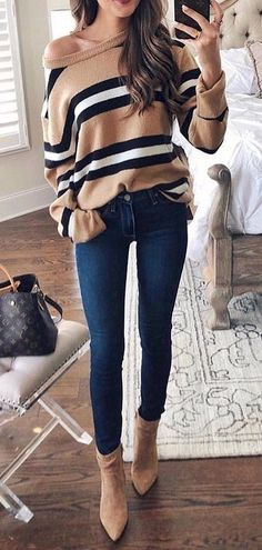 95 Simple Stunning Fall Outfits Ideas You Have To See mode Preppy Summer Outfits, Casual Fall Outfits, Fall Winter Outfits, Spring Outfits, Trendy Outfits, Cute Outfits, Work Outfits, Black Outfits, Womens Fashion Outfits