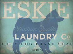 American eskimo eskie laundry company laundry room by geministudio
