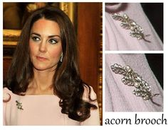 Oak Leaf Brooch Catherine, Duchess of Cambridge wore this May 18, 2012 for the Diamond Jubilee Lunch for Monarchs.