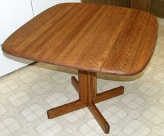 Restored Oak Blockwood Drop Leaf Table 2 of 4