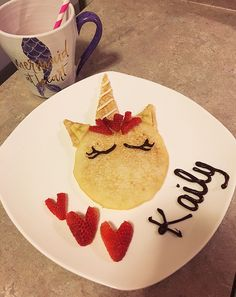 Tasty and Sweet- Adorable Unicorn Pancake Treats! Kids Cooking Recipes, Baby Food Recipes, Snack Recipes, Snacks, Dessert Recipes, Food Tips, Food Hacks, Food Ideas, Birthday Breakfast
