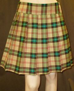 Saskatchewan Tartan Pleated SkirtSmallPlus by SOHOSKIRTS