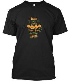 Halloween Teachers   Cutest  T Shirt Black T-Shirt Front