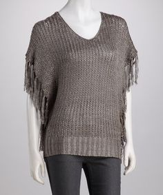 Take a look at this Gray Cape-Sleeve Top by High Secret on #zulily today! $29.99, regular 79.00