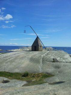Vippefyr (Tipping Lighthouse) at Verdens Ende in Tjøme, Norway