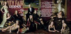 2001    From left: Nicole Kidman, Catherine Deneuve, Meryl Streep, Gwyneth Paltrow, Cate Blanchett, Kate Winslet, Vanessa Redgrave, Chloë Sevigny, Sophia Loren, and Penélope Cruz. by Annie Leibovitz