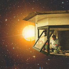 Floating house | by Mariano Peccinetti Collage Art