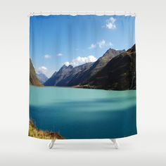 Lights dreams in the high mountains Shower Curtain by Tanja Riedel - $68.00