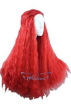 Khaleesi Red Wig Melisandre Daenerys Targaryen Game Of Thrones Wavy Long Hair  #KhaleesiRedWig
