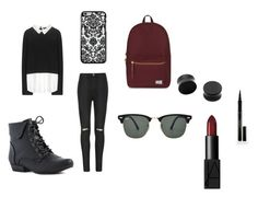 """""""Untitled #59"""" by alexisdance0420 on Polyvore featuring Alice + Olivia, Ally Fashion, Herschel Supply Co., Ray-Ban, Elizabeth Arden and NARS Cosmetics"""