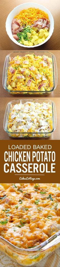 Baked Chicken Potato Casserole Try out this Loaded Baked Chicken Potato Casserole. Quick and easy, feeds the whole family!Try out this Loaded Baked Chicken Potato Casserole. Quick and easy, feeds the whole family! Casserole Spaghetti, Chicken Potato Casserole, Casserole Dishes, Spaghetti Bake, Spaghetti Dinner, Cooking Spaghetti, Chicken Spaghetti, I Love Food, Good Food