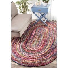 Bungalow Rose Khan Hand-Braided Area Rug Rug Size: