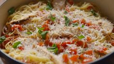 Your Life Is Now Complete Thanks To Chicken Bruschetta Angel Hair   - Delish.com