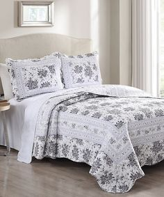 Love This Gray Rhonda Quilt Set By S.L. Home Fashions On #zulily!  #zulilyfinds
