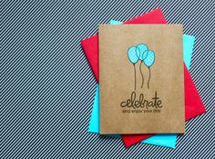 Balloon Birthday Card, Happy Birthday Card, Birthday Card Set, Handmade Birthday Card, Handmade Card Set, Happy Birthday, Birthday Cards