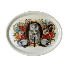 flowers and skulls tray