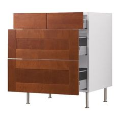 "AKURUM Base cabinet with 2+2 drawers - birch effect, Ädel medium brown, 30 "" - IKEA $340 each."