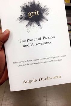 Books to read - Grit the power of passion and perseverance Angela Duckworth