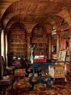 Private library by Studio Peregalli at Villa Bucciol in Oderzo, Italy
