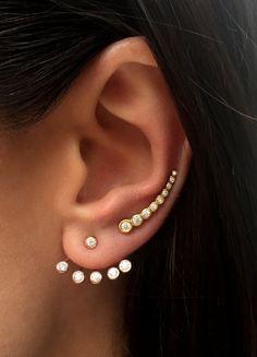SALE ON Swarovski Ear jacket Earrings / Ear by HappyWayJewelry