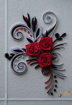 Neli Quilling Art: Quilling cards - roses
