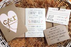 DIY - rustic wedding invitations