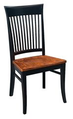 Cambridge side chair - solid hardwood chairs and benches - (oak, maple, cherry) - www.braunfarmtables.com Prices starting at $370 for a side chair and $426 for an arm chair.