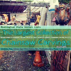 Need something to do for free in Allyn, Washington? Check out George Kenny's Chainsaw Carvings! (click through for more info)