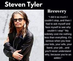 When it comes to recovery statistics, relapse rates for drug addiction are comparable to relapse rates from high blood pressure, asthma, and diabetes Sobriety Quotes, Recovery Quotes, Drug Quotes, Life Quotes, Cell Phone Addiction, Sober Life, Steven Tyler, Liv Tyler, Music
