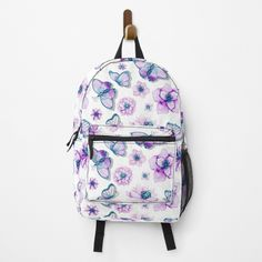 Butterflies Flying, Purple Butterfly, Fashion Backpack, Shells, Backpacks, Art Prints, Printed, Awesome, Gifts