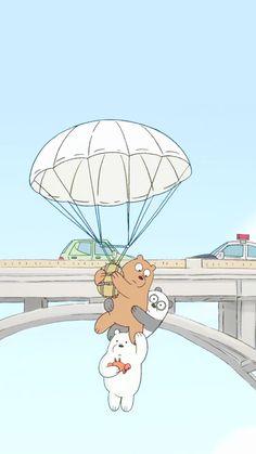 A loving family💕 We Bare Bears Wallpapers, Panda Wallpapers, Cute Cartoon Wallpapers, Cute Disney Wallpaper, Cute Wallpaper Backgrounds, Wallpaper Iphone Cute, Trendy Wallpaper, 3 Bears, Cute Bears